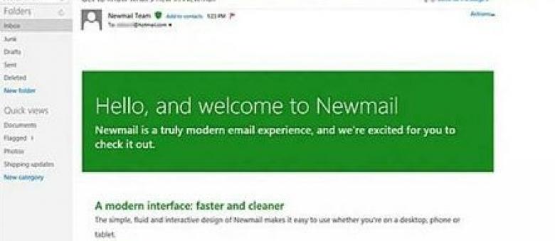 Newmail, el remplazo de Hotmail